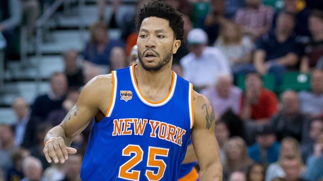 Knicks guard Derrick Rose