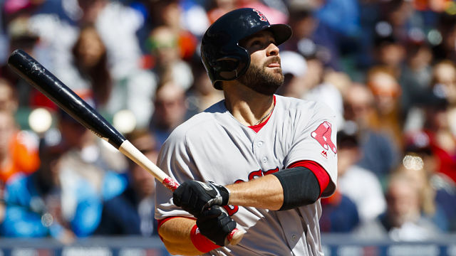 Boston Red Sox first baseman Mitch Moreland