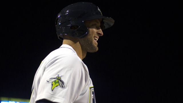 Columbia Fireflies outfielder Tim Tebow