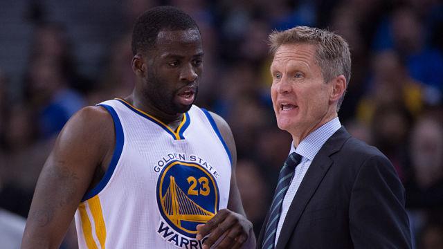 Golden State Warriors forward Draymond Green and head coach Steve Kerr