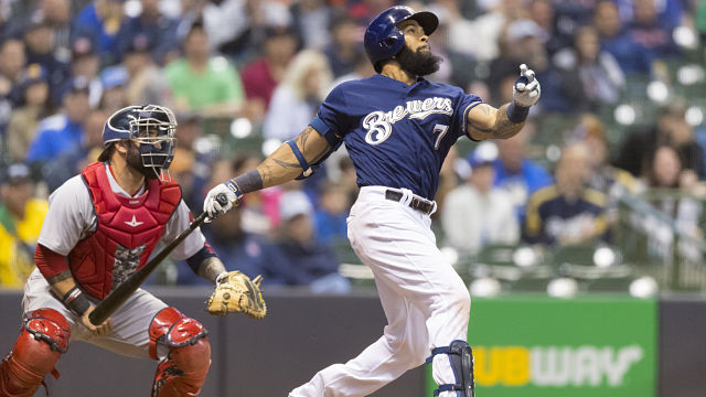 Milwaukee Brewers first baseman Eric Thames