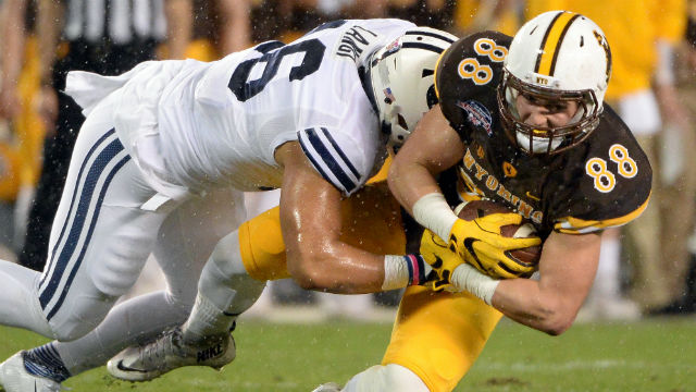 Wyoming Cowboys tight end Jacob Hollister