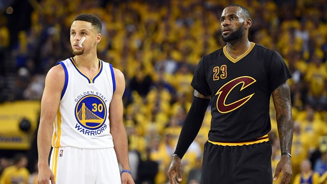 Cleveland Cavaliers forward LeBron James and Golden State Warriors guard Stephen Curry