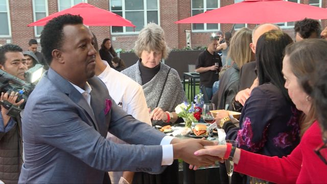 Pedro Martinez At Feast With 45 At Fenway Event
