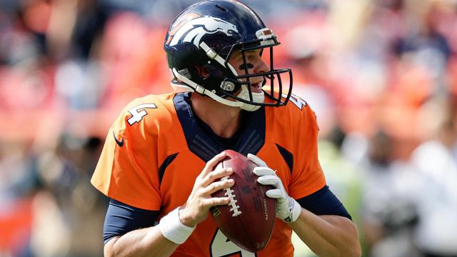 Broncos quarterback Austin Davis