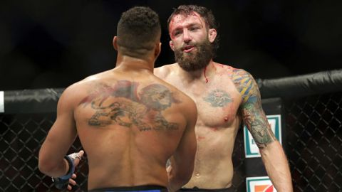 UFC fighters Kevin Lee and Michael Chiesa