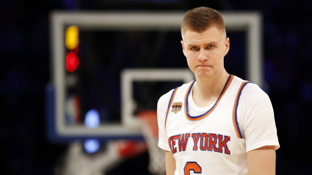 New York Knicks center Kristaps Porzingis