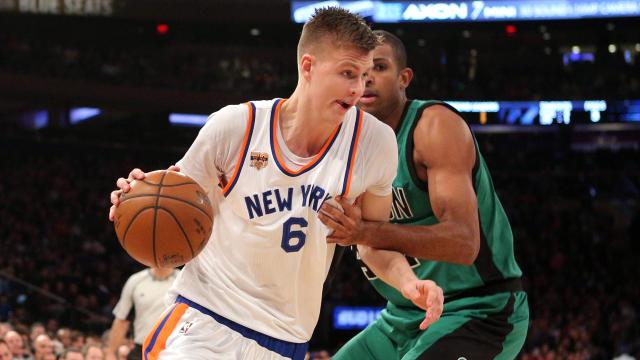 New York Knicks center Kristaps Porzingis