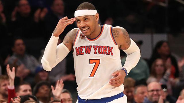 New York Knicks forward Carmelo Anthony