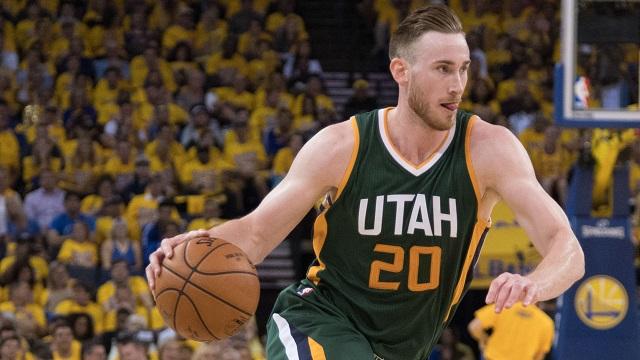 Utah Jazz forward Gordon Hayward