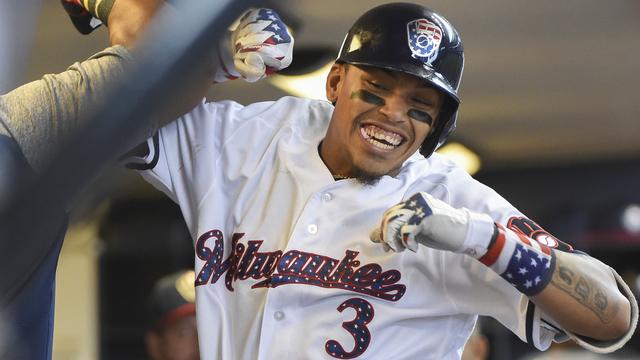 Brewers shortstop Orlando Arcia
