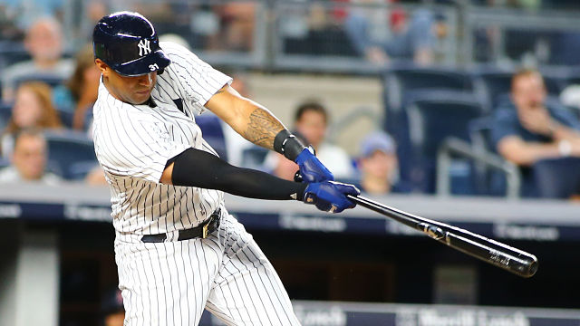 New York Yankees outfielder Aaron Hicks