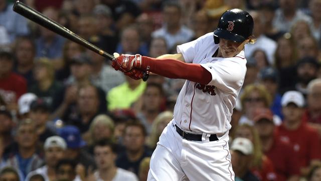 Boston Red Sox left fielder Brock Holt