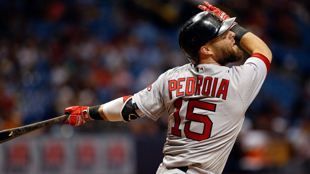 Boston Red Sox designated hitter Dustin Pedroia