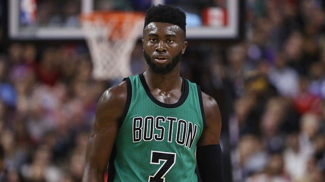 Boston Celtics forward Jaylen Brown