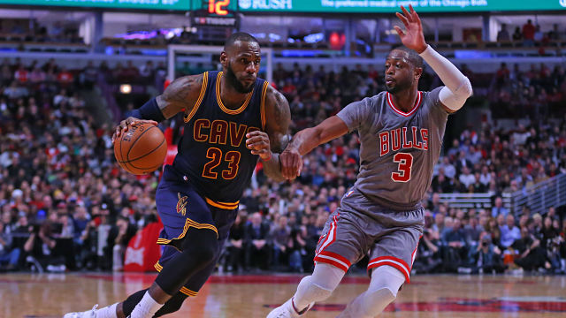 Cleveland Cavaliers forward and Chicago Bulls guard Dwayne Wade