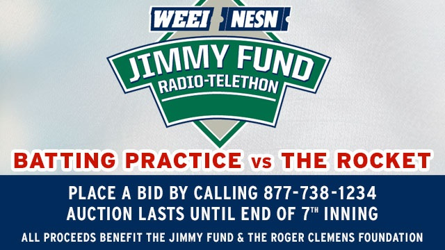Roger Clemens Jimmy Fund Auction