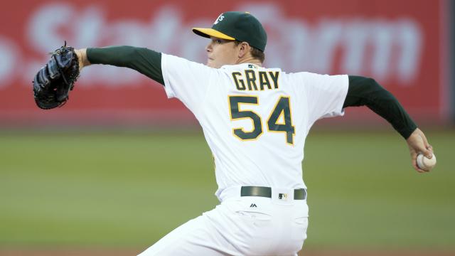 Oakland Athletics pitcher Sonny Gray