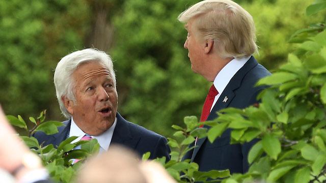 Patriots owner Robert Kraft, President Donald Trump