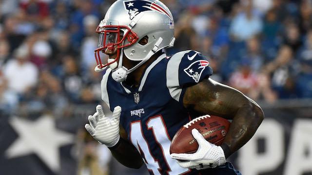 Patriots returner Cyrus Jones