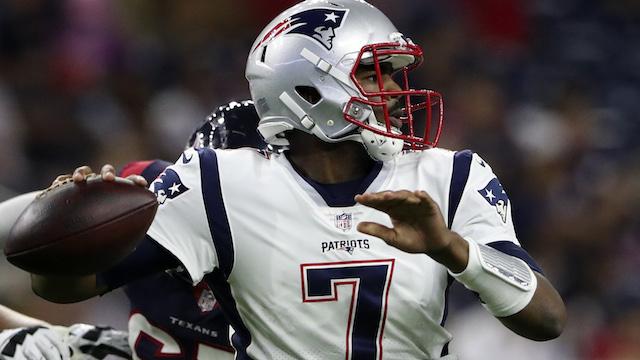 Patriots quarterback Jacoby Brissett