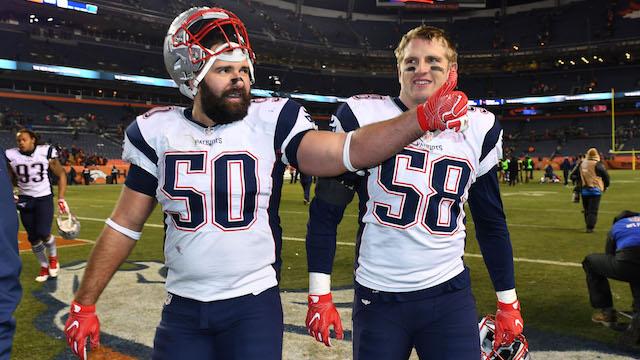 Patriots defenders Rob Ninkovich, Shea McClellin