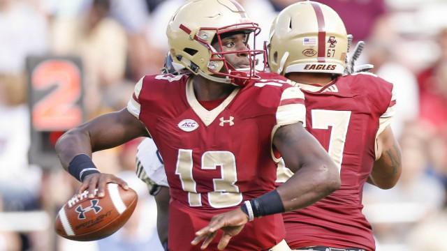 Boston College Eagles quarterback Anthony Brown