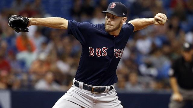 Boston Red Sox starting pitcher Chris Sale