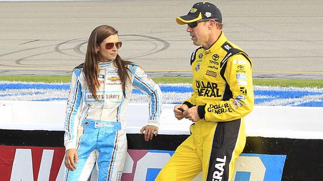 NASCAR drivers Danica Patrick and Matt Kenseth