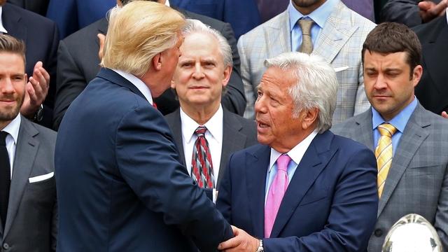 Donald Trump and Robert Kraft