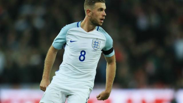 England soccer captain Jordan Henderson