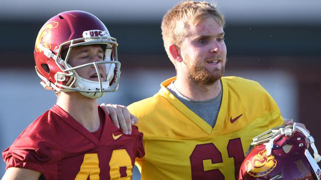 outhern California Trojans long snapper Jake Olson