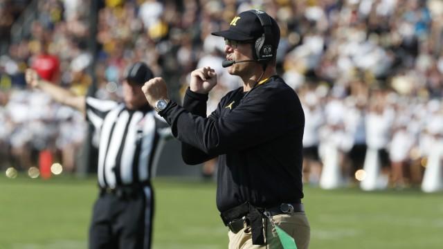 Michigan Wolverines coach Jim Harbaugh