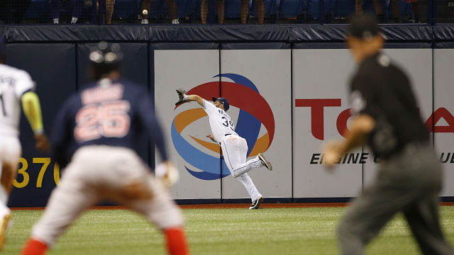 Tampa Bay Rays center fielder Kevin Kiermaier