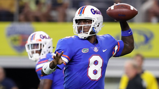 Florida Gators quarterback Malik Zaire