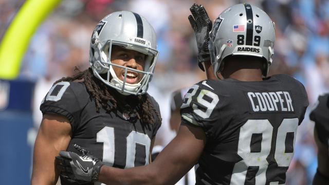 Oakland Raiders wide receivers Seth Roberts and Amari Cooper