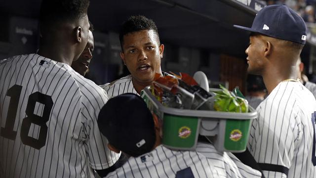 New York Yankees infielder Starlin Castro