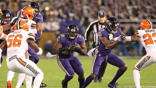 Baltimore Ravens running back Terrance West