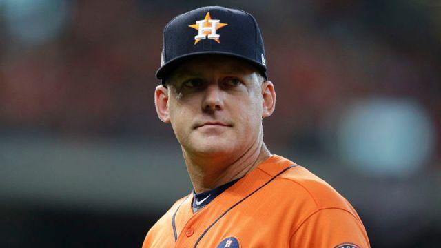 Houston Astros manager AJ Hinch