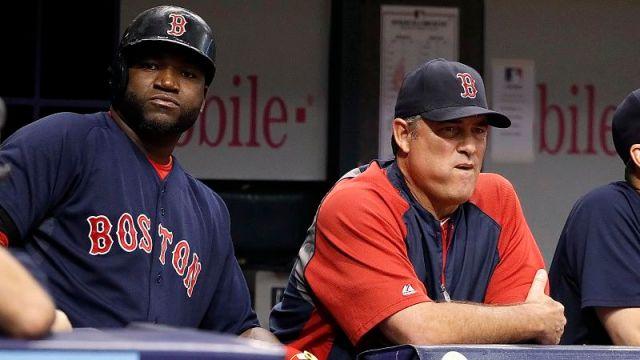 Boston Red Sox designated hitter David Ortiz and manager John Farrell
