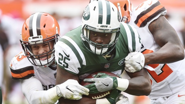 New York Jets running back Elijah McGuire
