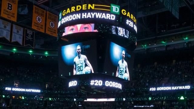 Celtics forward Gordon Hayward