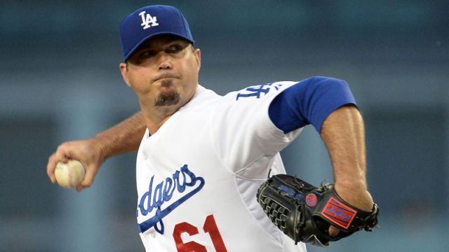 Los Angeles Dodgers right-hander Josh Beckett
