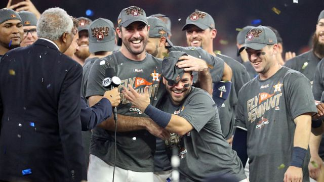 Houston Astros pitcher Justin Verlander and second baseman Jose Altuve