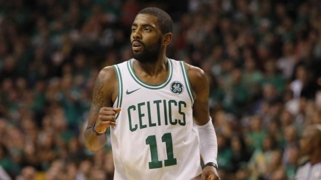 Boston Celtics point guard Kyrie Irving
