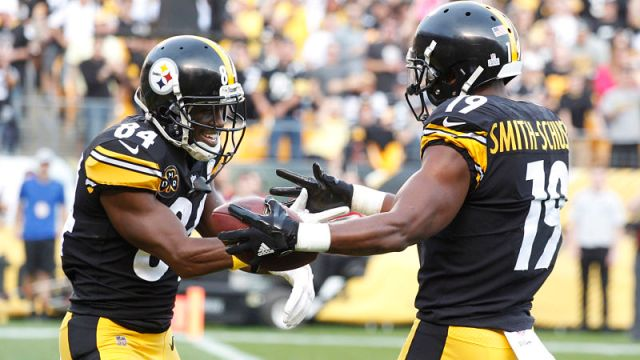 Pittsburgh Steelers wide receivers Antonio Brown and JuJu Smith-Schuster
