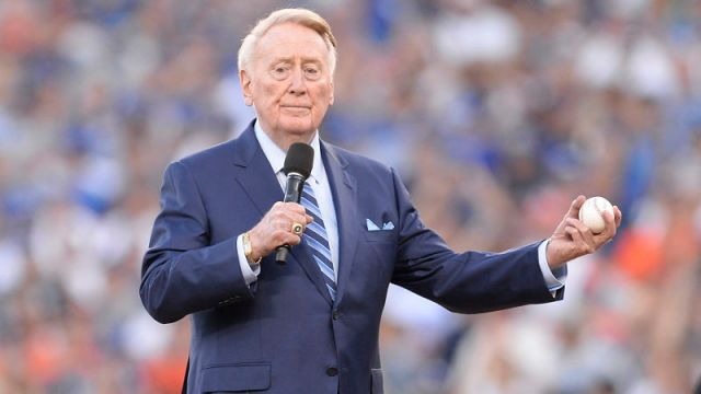 Los Angeles Dodgers broadcaster Vin Scully