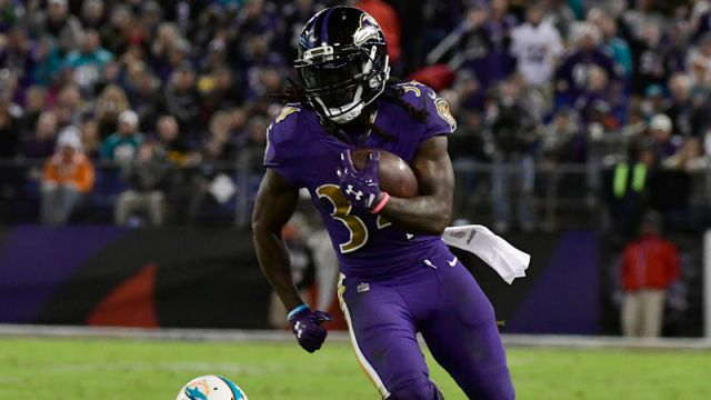 Baltimore Ravens running back Alex Collins