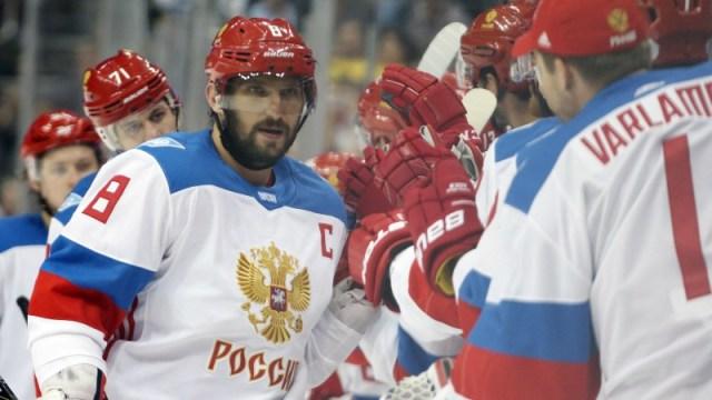 Russia center Alex Ovechkin