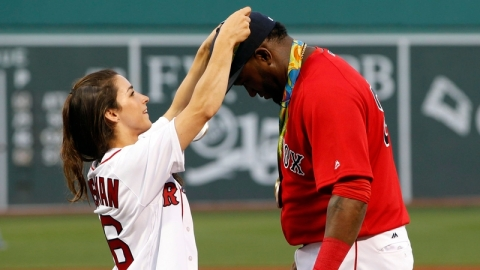 Gymnast Aly Raisman and Retired Red Sox Designated Player David Ortiz